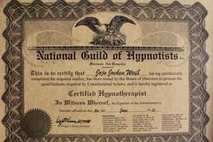 National Guild of Hypnotists Certificati