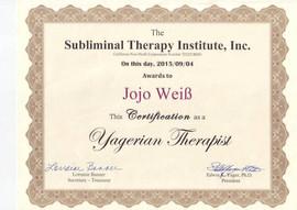Yager Therapeut Zertifikat