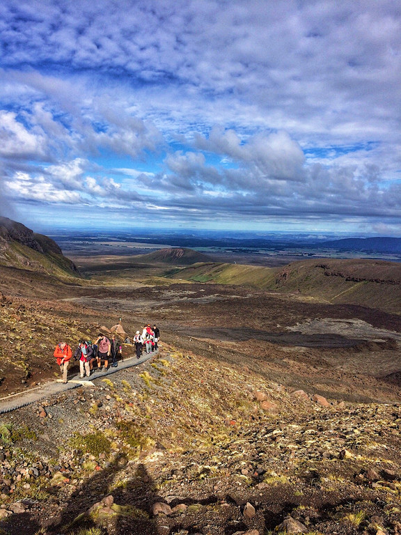 View along the Tongariro Alpine Crossing