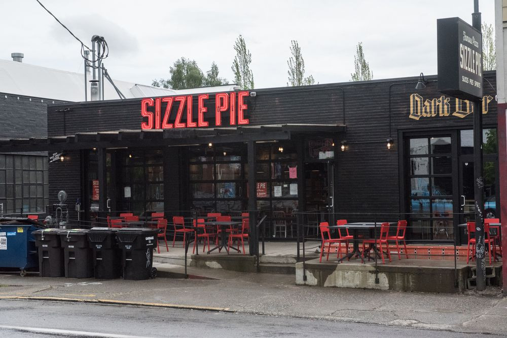 Outside Sizzle Pie, Seattle
