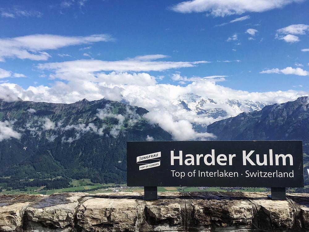 Harder Kulm lookout point in Interlaken