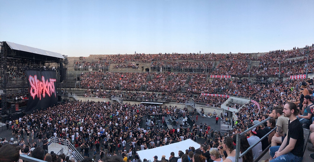 Slipknot concert at the Nimes Arena