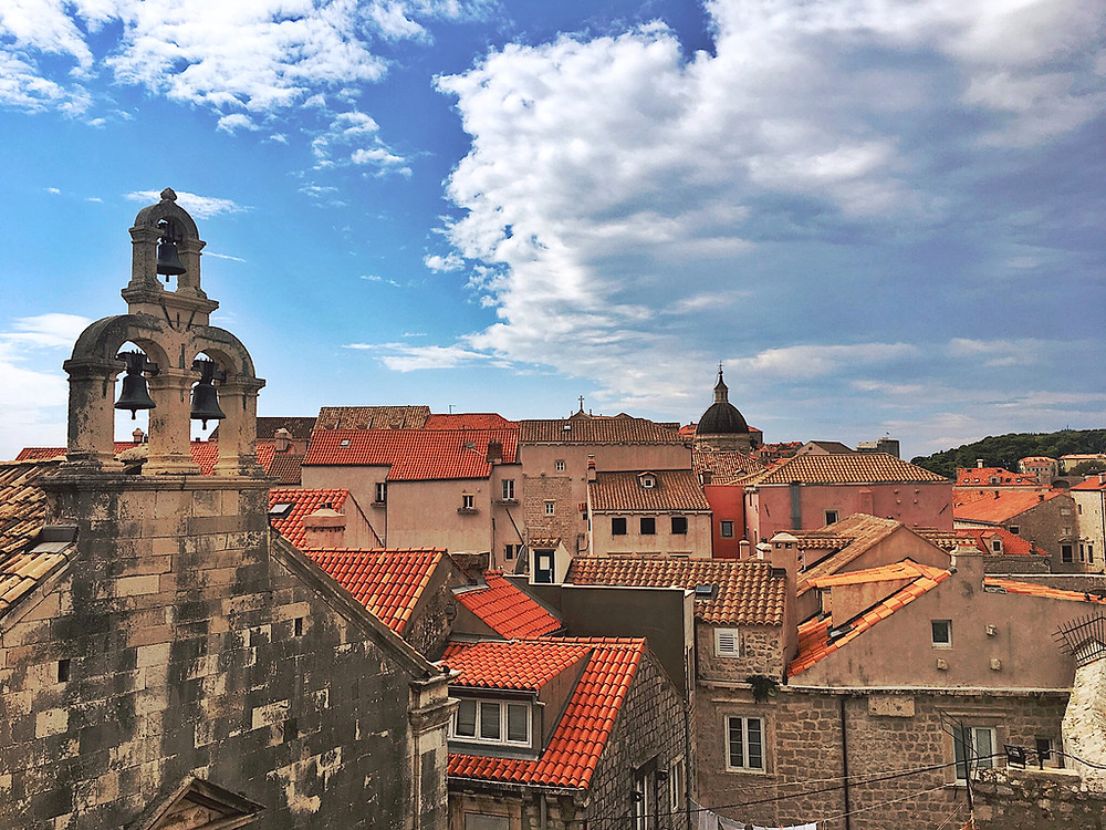 Orange roofs in Dubrovnik