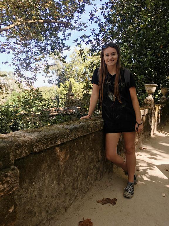 Female travel blogger at Quinta da Regaleira, Sintra