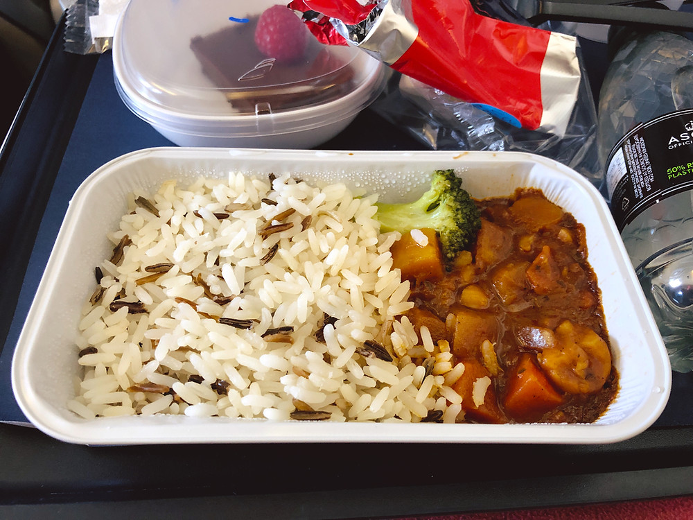 Vegan meal provided by British Airways