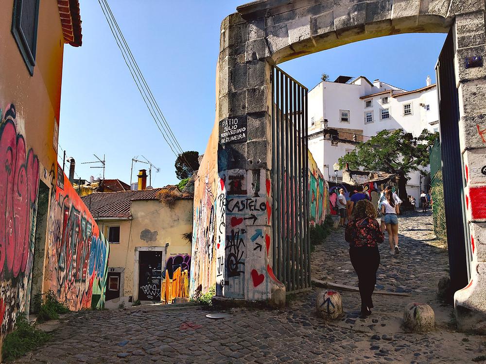 Street art in Alfama, Lisbon