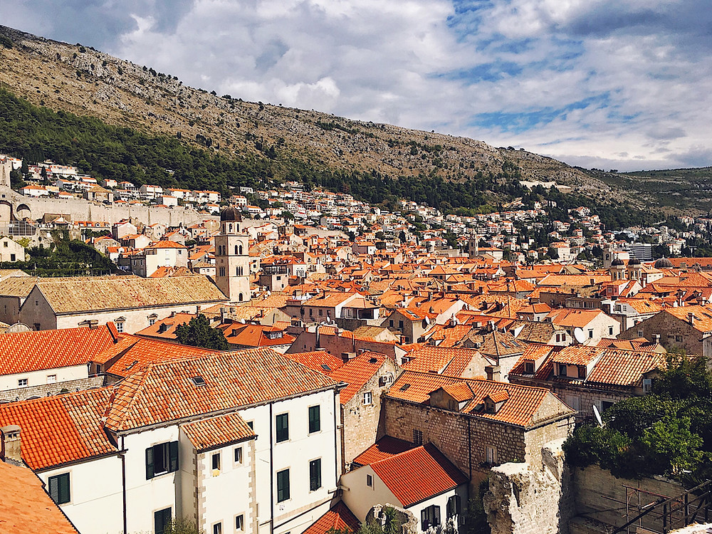Srđ and the city of Dubrovnik