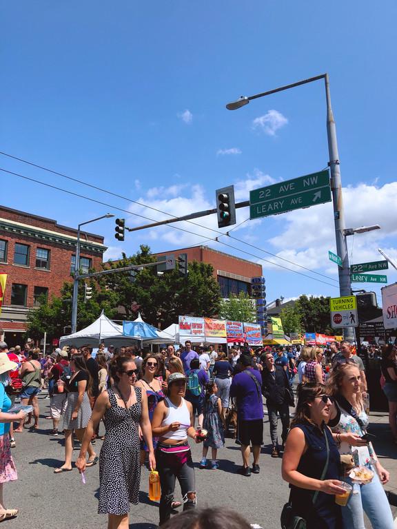 Ballard Farmers' Market, Seattle, in July