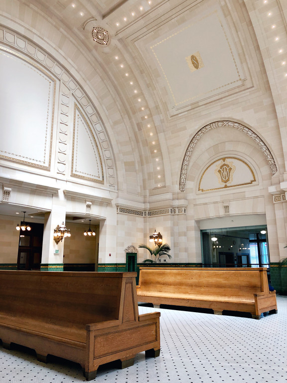 Interior of Union Station in Seattle