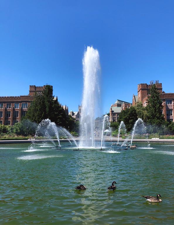 Drumheller Fountain at the University of Washington