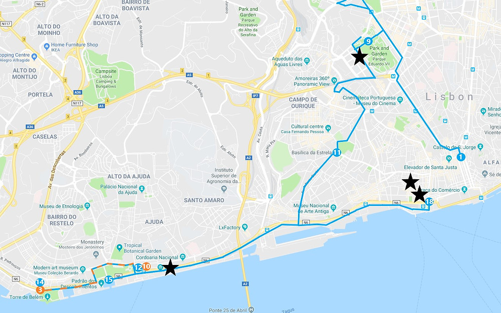 Day one suggested route