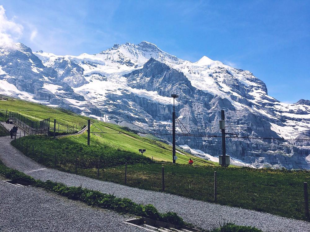 The view over the railway at Kleine Scheidegg