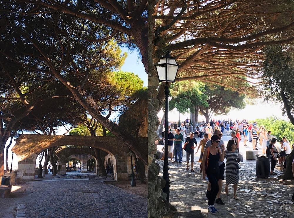 Tourists at Castelo de São Jorge, Lisbon