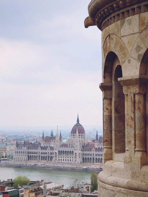 Hungarian Parliament Building from Fisherman's Bastion, Budapest