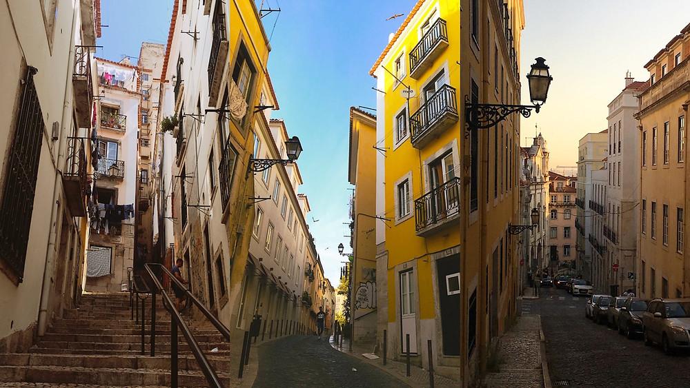 Alfama streets, Lisbon