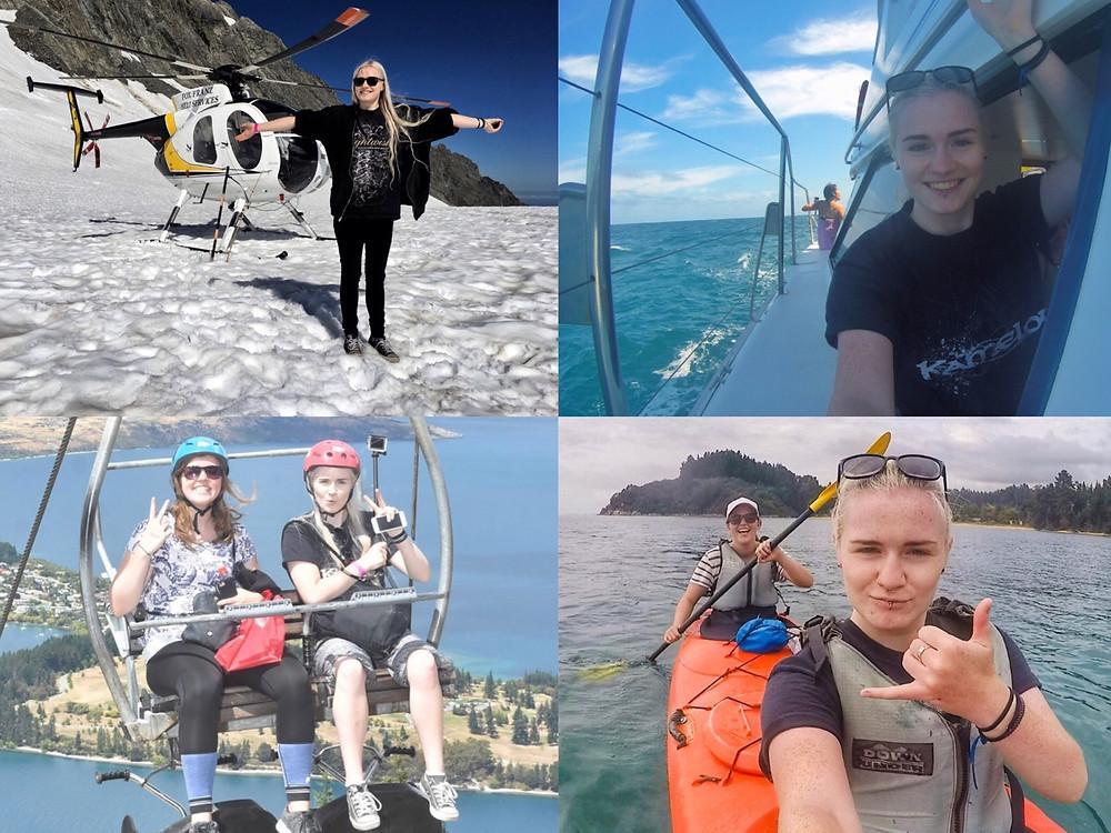 Outdoor activities in New Zealand's south island