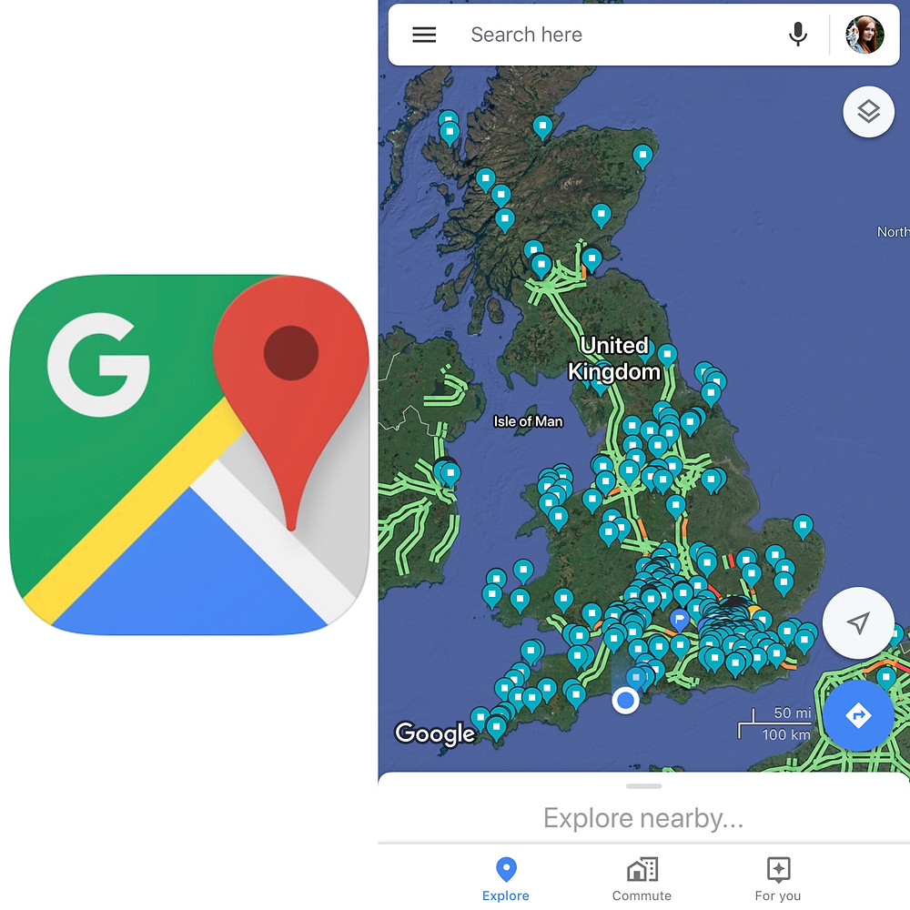 Screenshot from Google Maps app