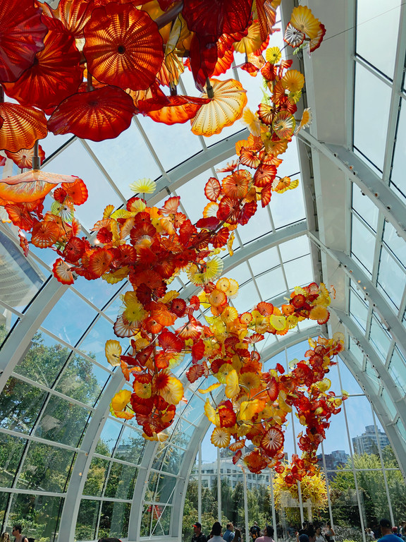 The glasshouse at Chihuly Garden and Glass