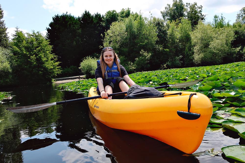 Kayaking at University of Washington arboretum