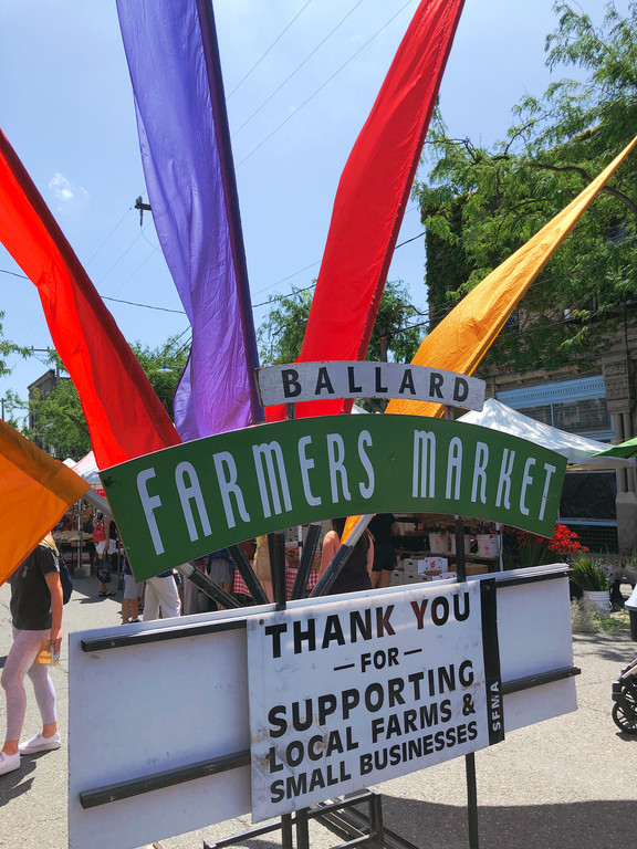 Ballard Farmers Market sign