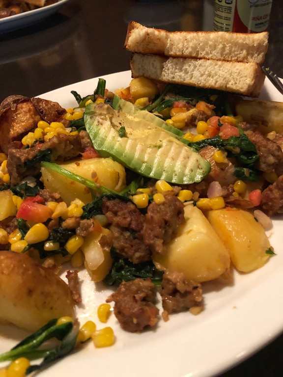 Vegan hash from Lost Lakes diner, Seattle