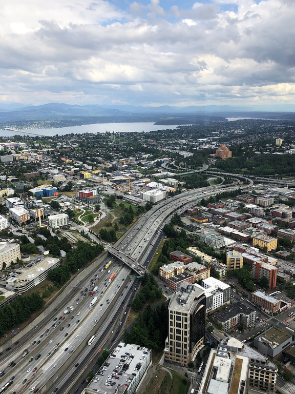 View from the Columbia Center Observatory, Seattle