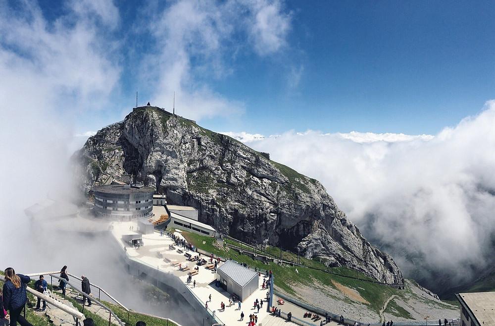 The summit of Mount Pilatus