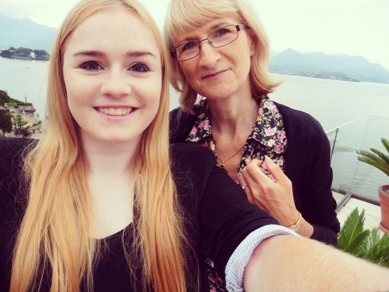 Mother and daughter in Stresa, Italy