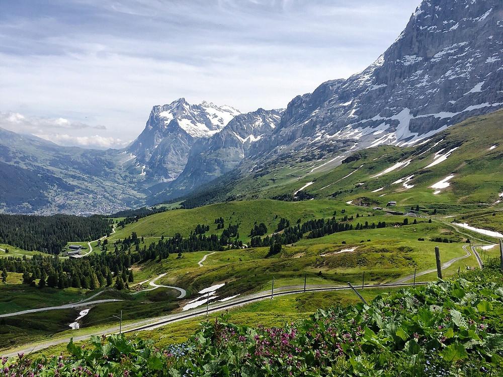 The route towards Grindelwald from Kleine Scheidegg