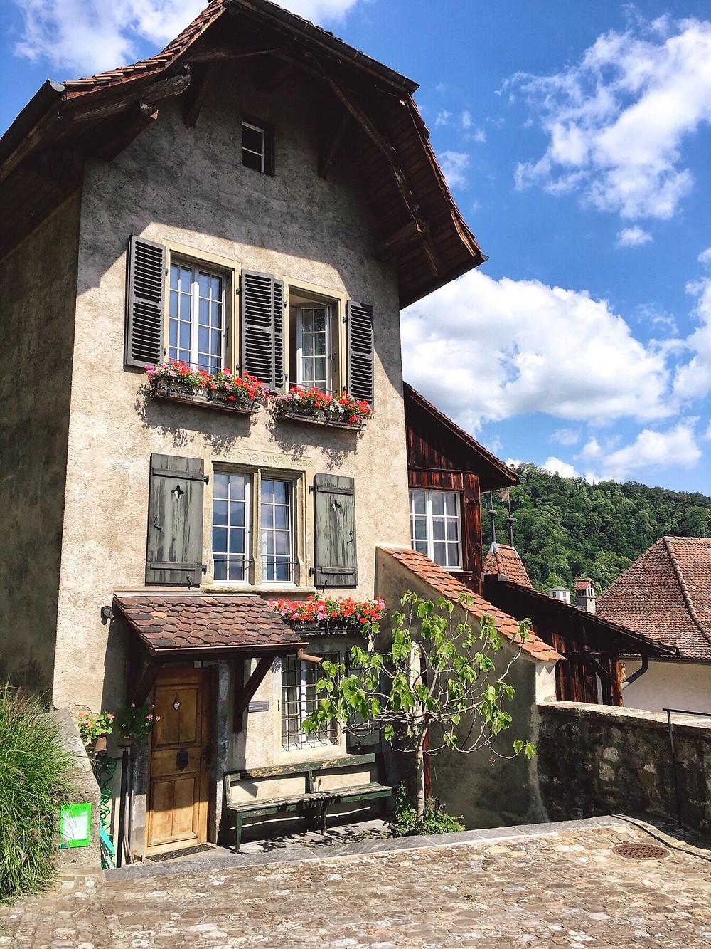 Cute Swiss house in city of Thun
