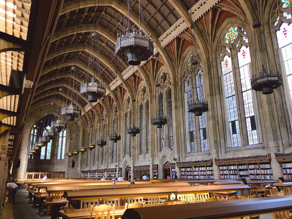 The Harry Potter reading room at the University of Washington