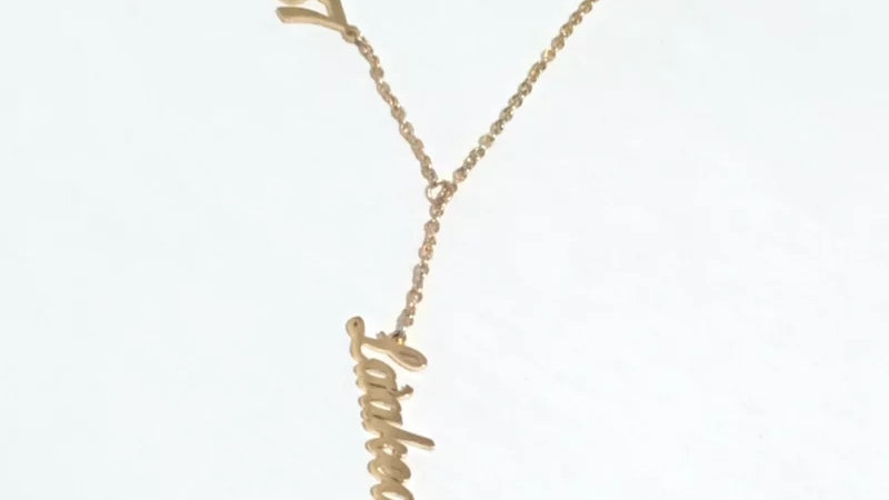 Drop Birth Year and Name Necklace
