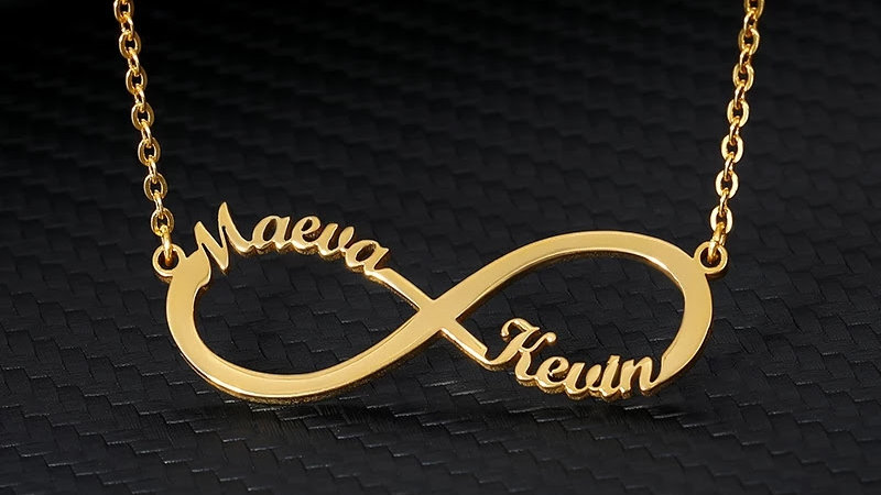 Double Name Infinity Necklace