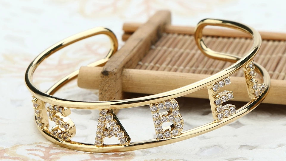 Bling Custom Name Bracelet