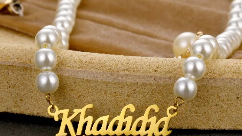 Custom Pearl Name Necklace