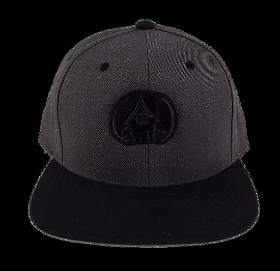 Village Logo Snapback - Grey/Black