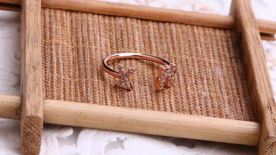 Custom Initial Bling Ring