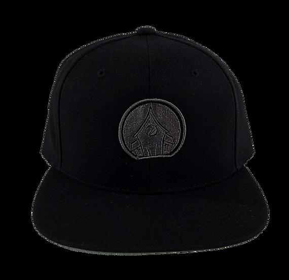 Village Logo Snapback - Black/Grey