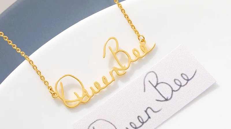Custom Handwriting Name Necklace
