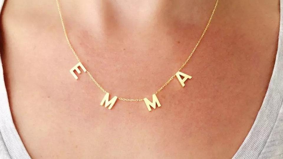 6 Letter Drop Necklace