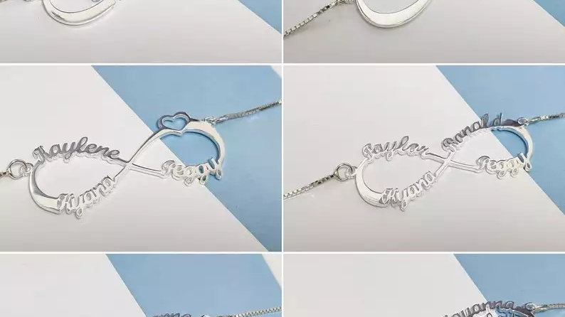 3 Name Infinity Necklace
