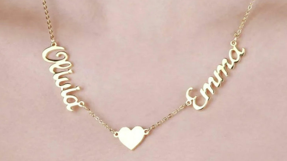 2 Name Love Necklace