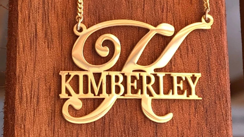 Big Letter Name Necklace