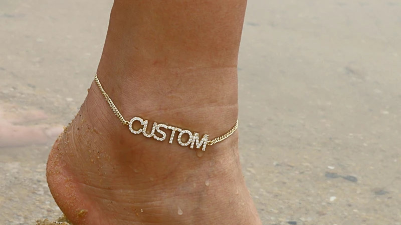 Custom Bling Anklet