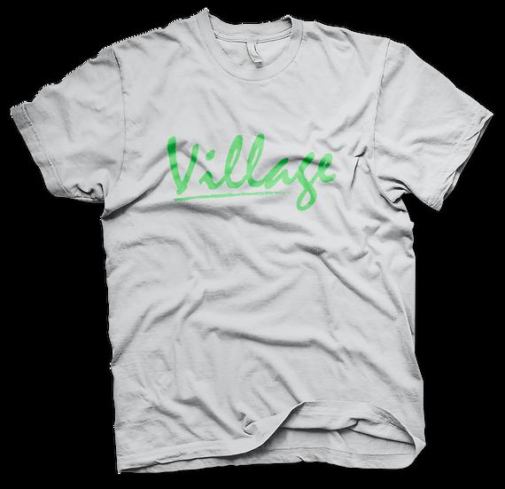 Village Classic Tee - White/(H)Green
