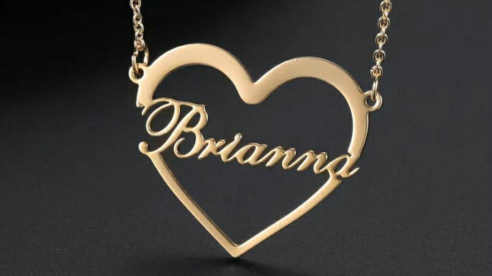 Custom Heart Name Necklace