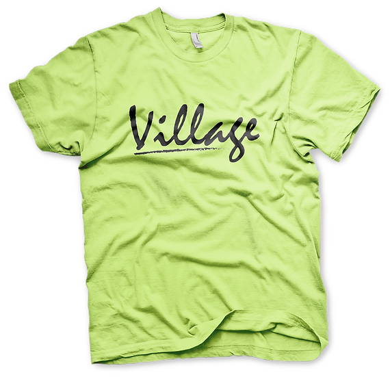 Village Classic Tee - Safety Green/Black