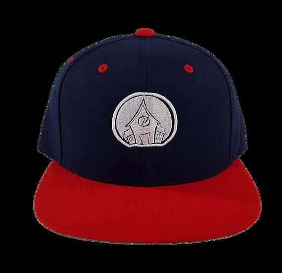 Village Logo Snapback - Navy/Red