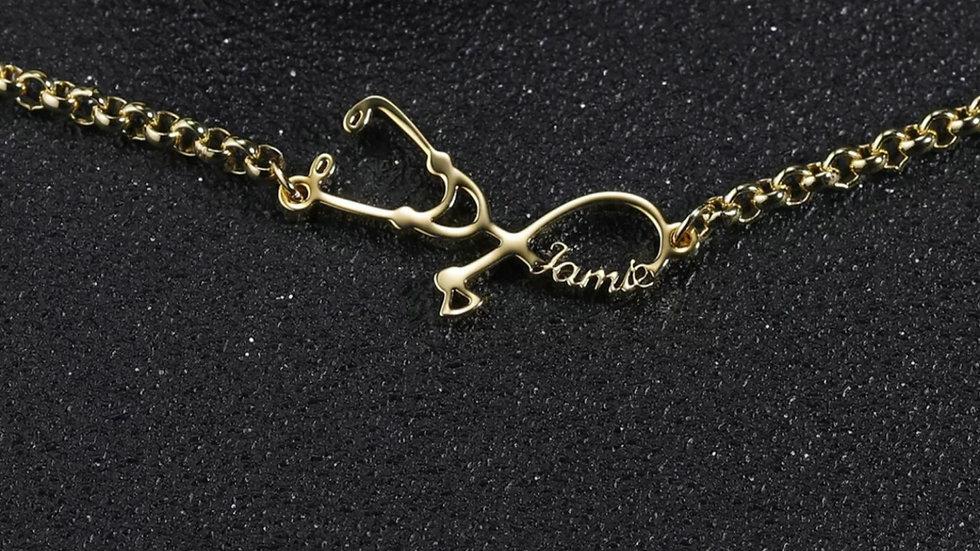 Stethoscope Custom Name Bracelet