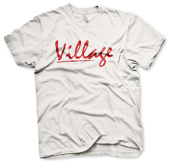 Village Classic White Tee - Red
